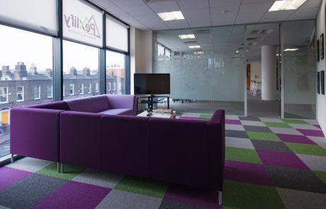 Pexlify-Office-Interior-Purple-Soft-Seating-with-Contrast-Floor-Mat-Radius-Office
