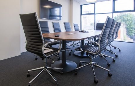 Pexlify-Office-Layout-Boardroom-Table-with-Black-Meeting-Room-Swivel-Chairs-Radius-Office