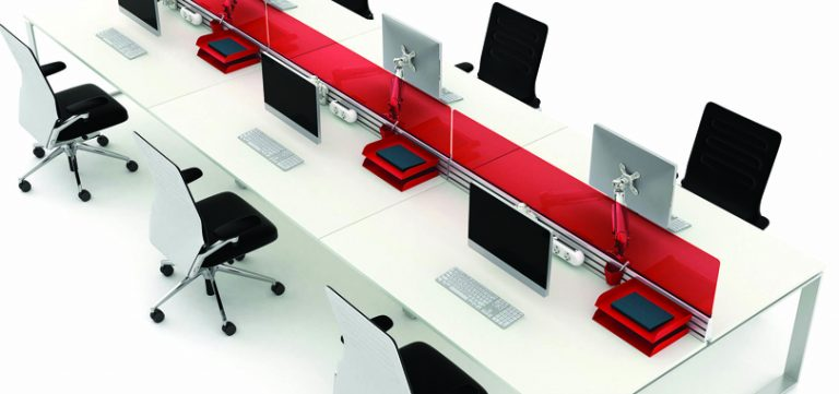 Desk-Screens-straight-red-desk-screen-in-a-white-table-Copy