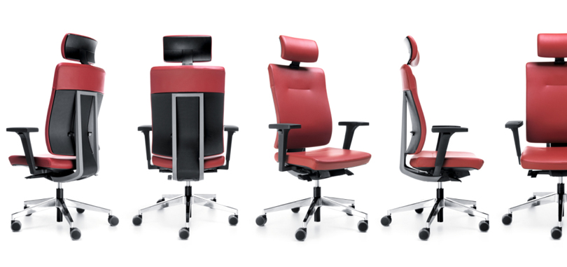 Pink ergonomic adjustable chair