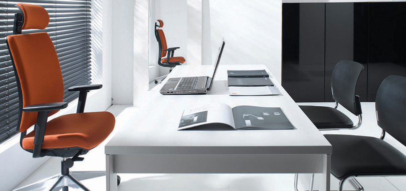 Executive office seating with ergonomic design