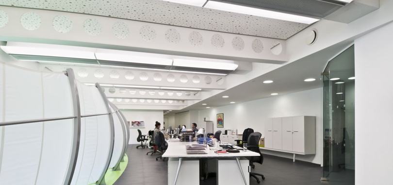 office ceilings. Linear Office Ceilings White Creative Design