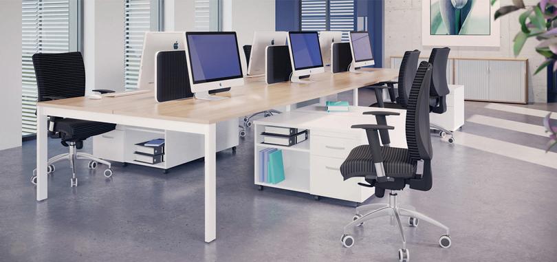 Modular bench office desks expandable workstation and pedestal