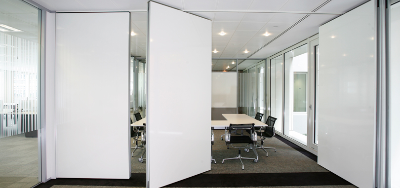 Office folding partitions operable walls