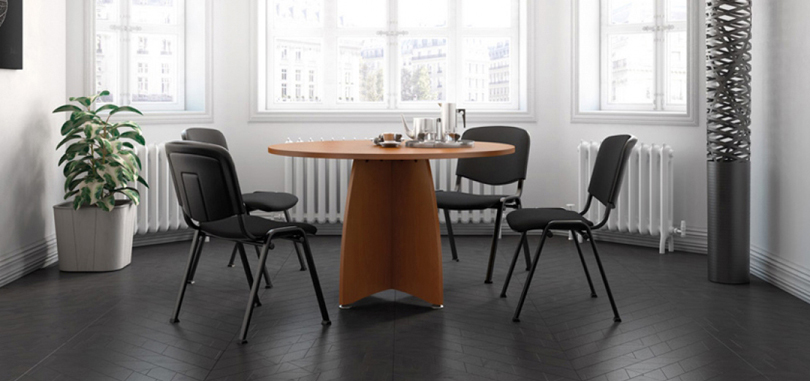 Office meeting room in round table for 4 people