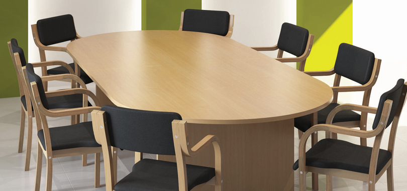 Office meeting room table in beech