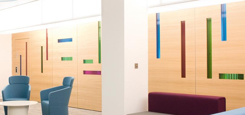 Office sliding wood door