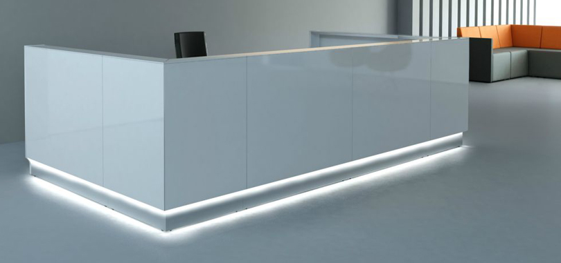 Reception Desks Furniture with bottom LCD light accent