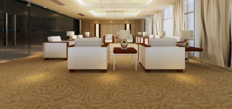 Reception carpet dark beige