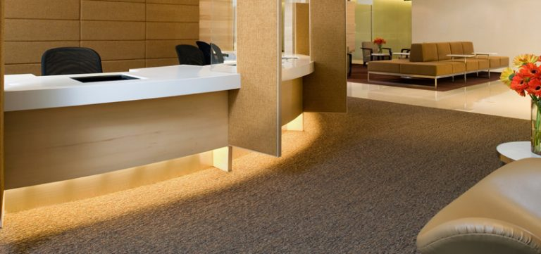 Reception carpet plain grey design