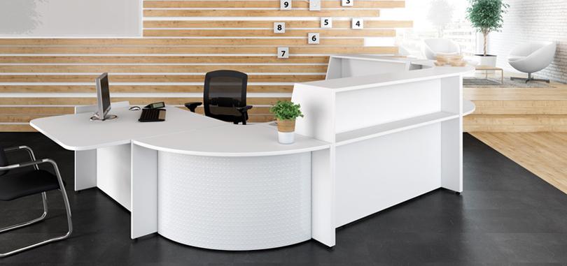 Reception desks white counter