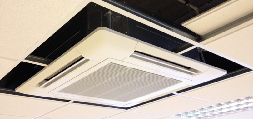 Cassette type air conditioner for small offices