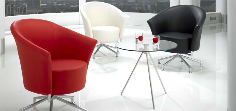 Canteen Breakout Seating with glass table and seating