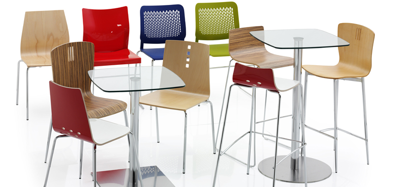 Canteen Breakout Seating Multi coloured various sizes