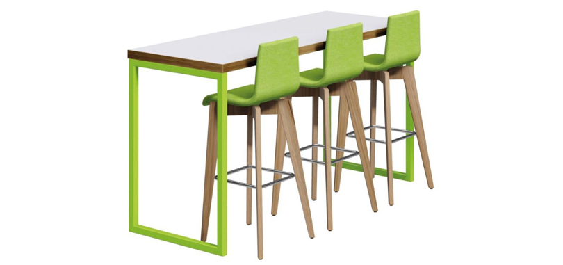 Canteen Breakout Tables in Block style multi coloured chair
