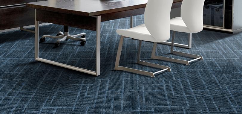 Carpet Tiles in dark blue