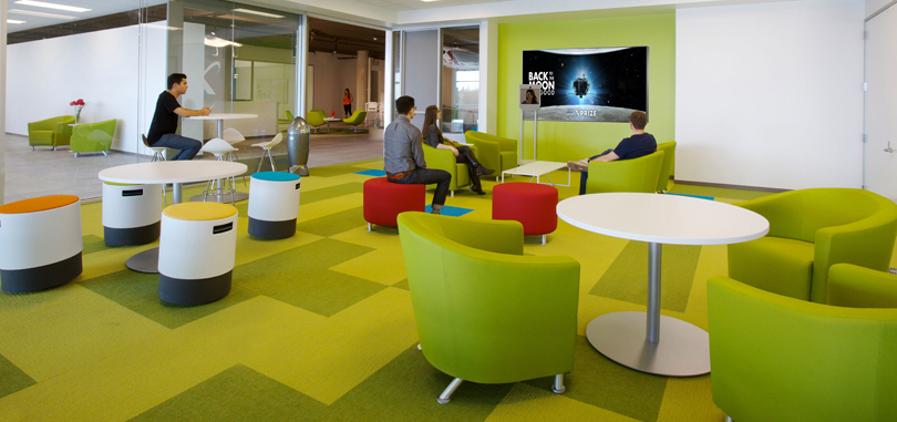 Carpet Tiles in green