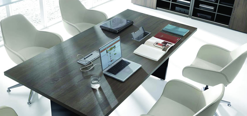 modern conference room with electric system