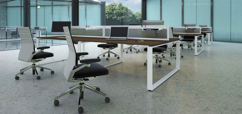 Bench system with perspex screens