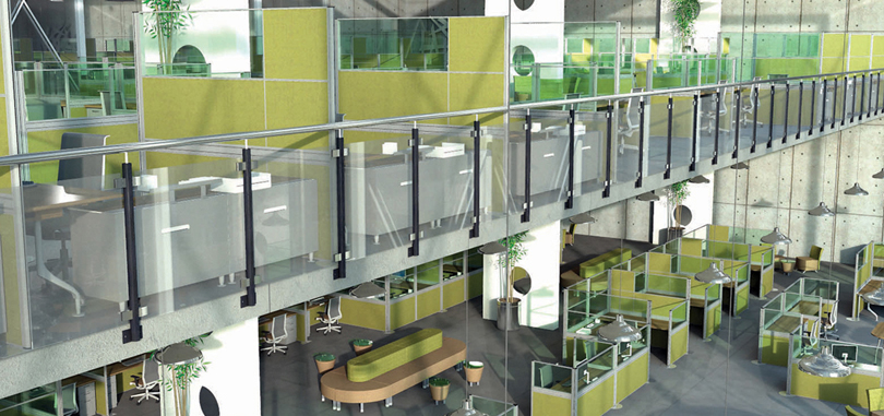 Freestanding Screens in green colour design