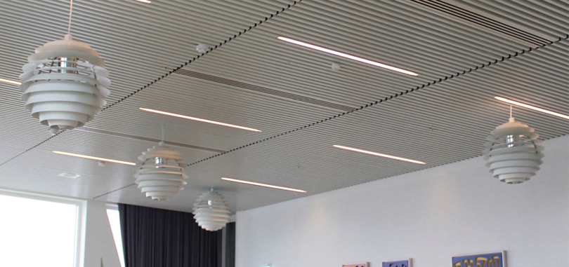 linear office ceiling acoustic-suspended ceiling metal strip for office