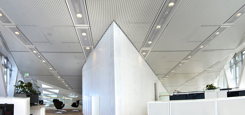 linear office ceiling acoustic suspended ceiling metal strip