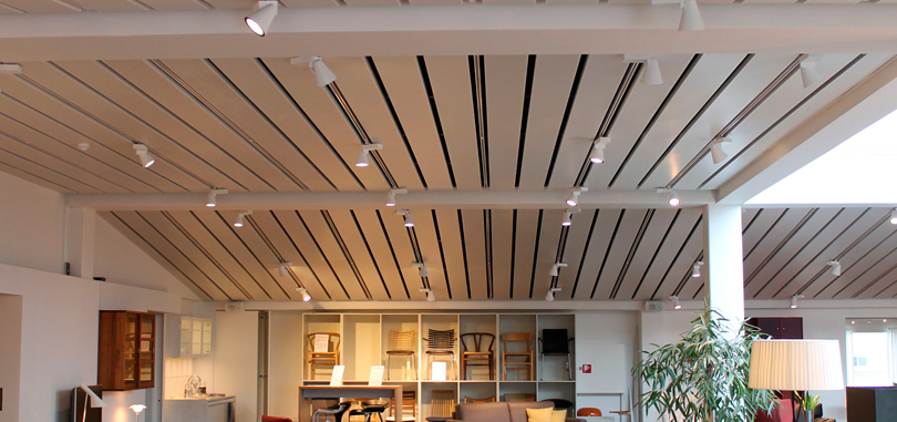 linear office ceiling metal strip