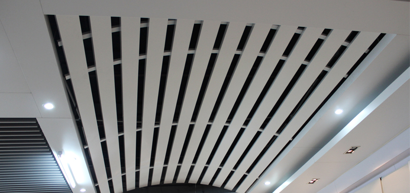 linear office ceiling metal strong aluminum