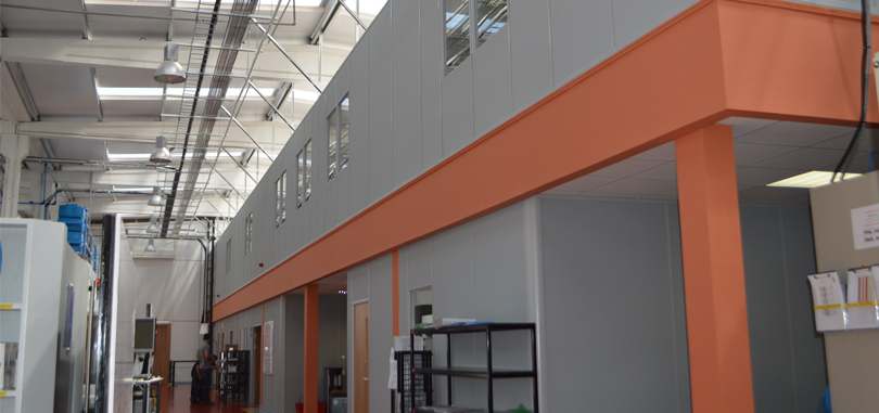 mezzanine floors open structure offices