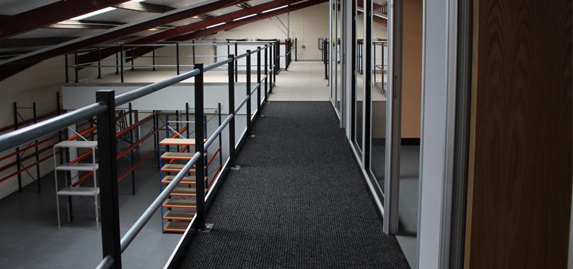 mezzanine floors storage open space
