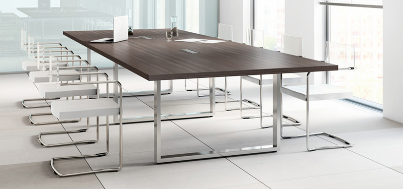 Office boardroom furniture with nitech table and metal legs