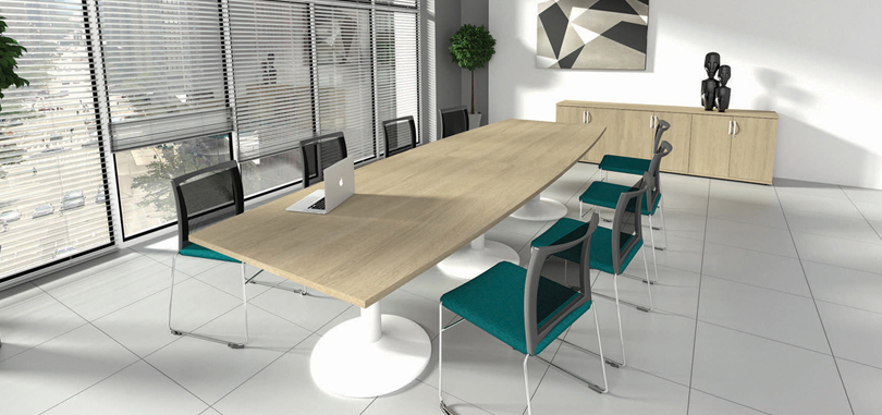 Office boardroom furniture with trumpet legs