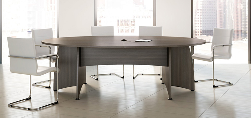 office conference rooms with expandable elliptical table