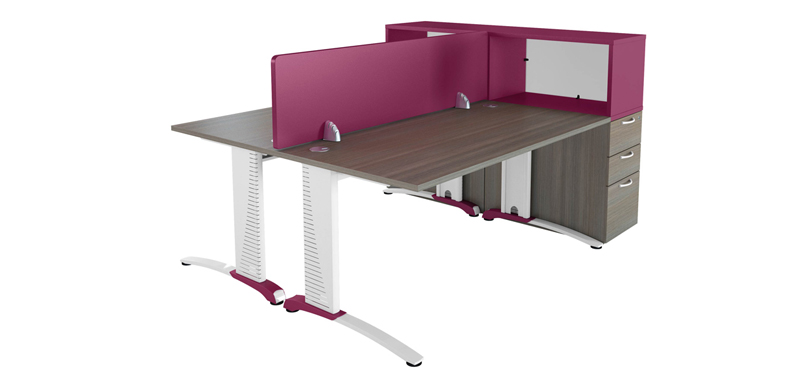 Office desk accessories pedestal and removable front screen