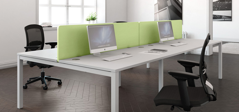 office desk screens green partition front panel