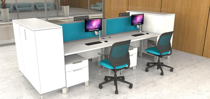 office desk screens teal front desk panel