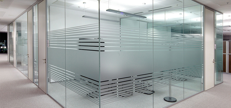 office glass partitions frameless glass wall