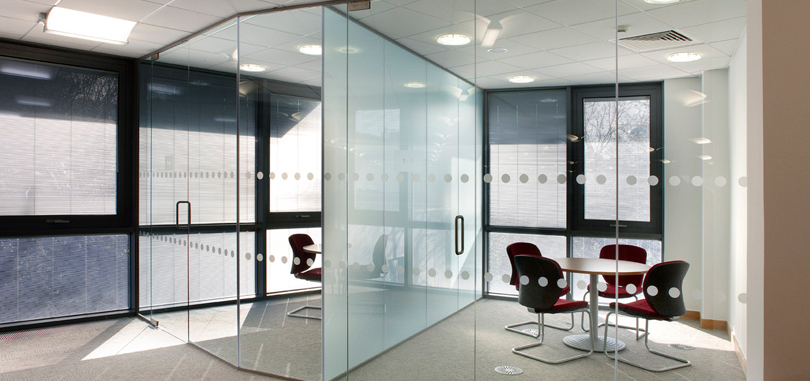 office glass partitions with frame