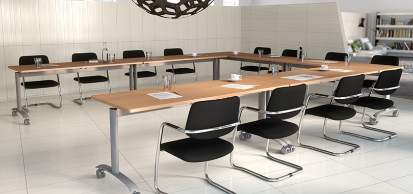 office training rooms adjustable rectangular table