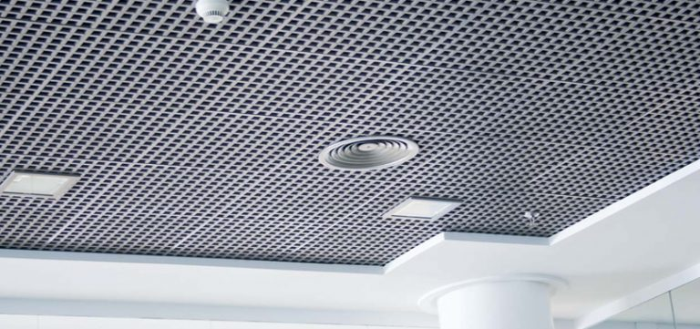 Open Cell Ceilings in white