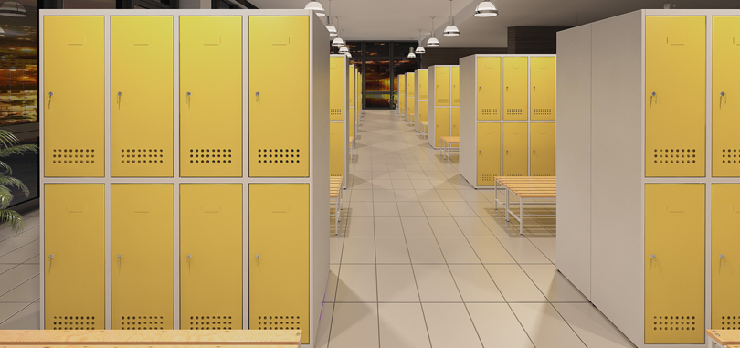 Personal Storage in yellow and white