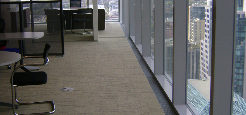 raised access flooring for data management cable