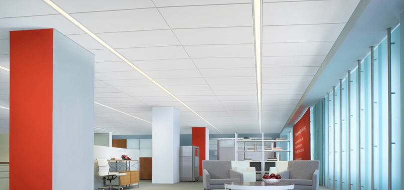 suspended ceiling white lighting fixture