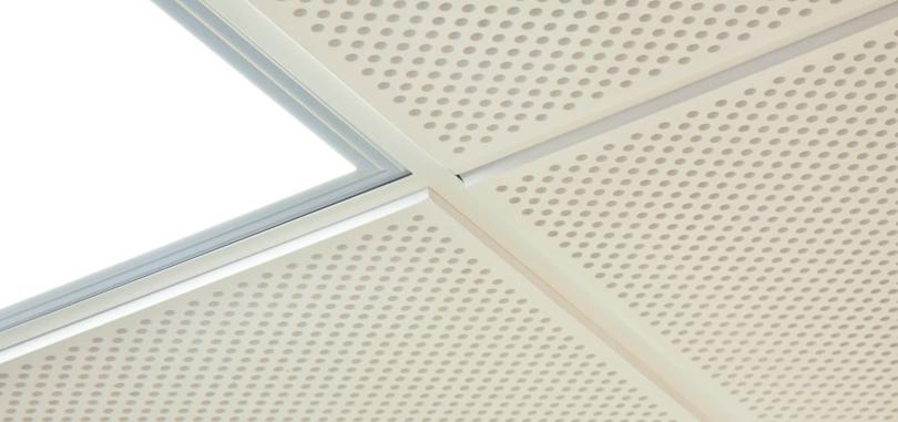 suspended ceiling white tile