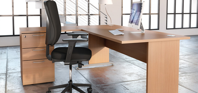 Task Office Chairs in black wth soft cushion