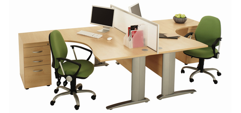 Task Office Chairs in green with gas lift and adjustable armrest