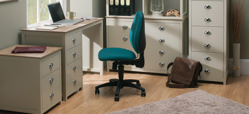 Task Office Chairs in teal with gas lift